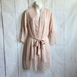 Ark NC blush robe romantic lace new small